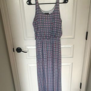 Market and Spruce Red, White & Blue Pattern Maxi